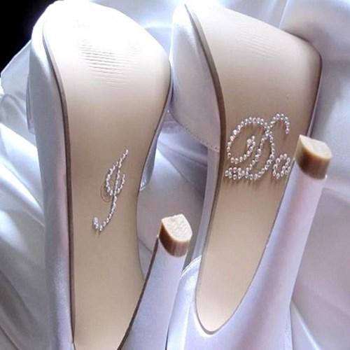 Adesivo para solado do sapato da noiva - I Do