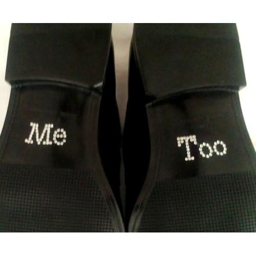 Adesivo para solado do sapato do noivo - Me too
