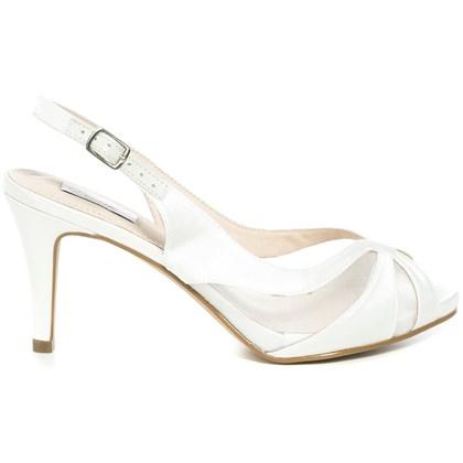Peep toe Chanel Noiva Cetim New White - 62053