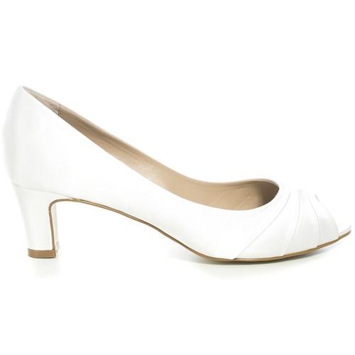 Peep toe Noiva New White Salto Baixo - WJ3257