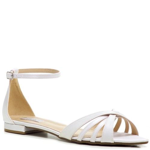Rasteira Noiva Velvet Branco Sem Salto - ST841119