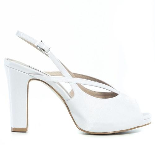 Sandália Chanel Noiva Branca Salto Largo - 296D.10179