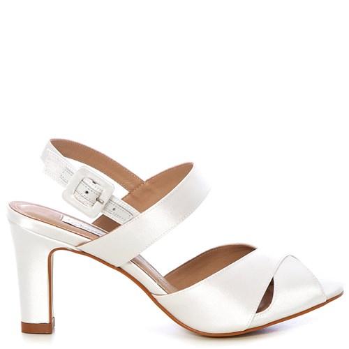 Sandália Chanel Noiva New White Salto Médio - 256D.10535