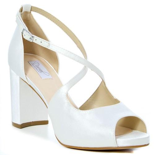 Sandália Noiva Cetim New White - 62098