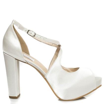 Sandália Noiva New White Salto Alto Confortável - 86096