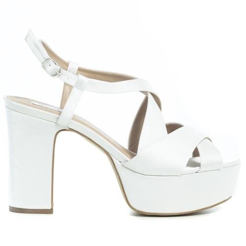 Sandália Noiva New White Salto Bloco PLataforma - 11200/124
