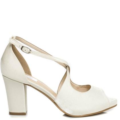 Sandália Noiva Salto Médio Confortável - 62098
