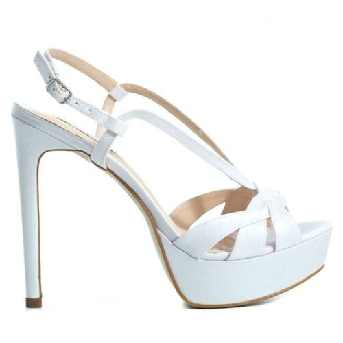 Sandália Noiva Velvet Branco Trançado - ST581025