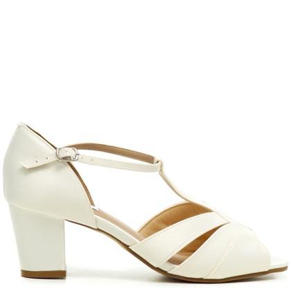 Sandália Noiva Vintage New White Confort - MV3489