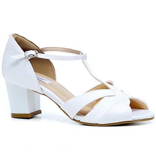 Sandália Noiva Vintage Salto Baixo Confortável - 3489