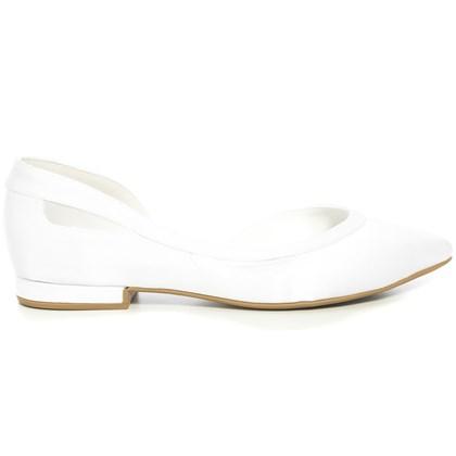 Sapatilha Noiva Cetim Branco Tela - 2200/492