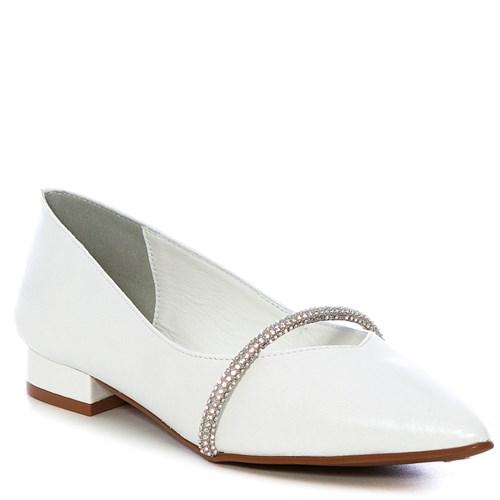 Sapatilha Noiva Couro Perolizado Branco - 5652132