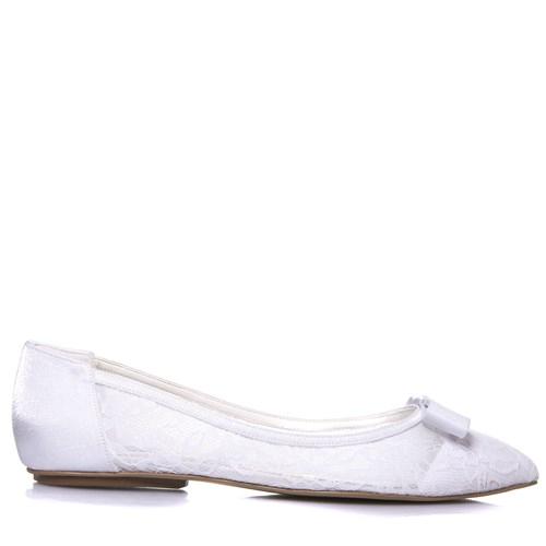 Sapatilha Noiva Tela Renda Branca - 1000/320