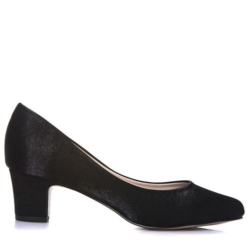 Sapato Feminino Festa Salto Confortável Cetim Velvet - WD1199