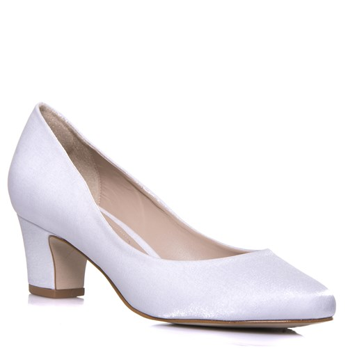 Sapato Feminino Noiva Salto Confortável Cetim Velvet - WD1199