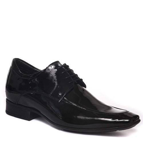 Sapato Masculino Noivo Cadarço Verniz Preto - 40803