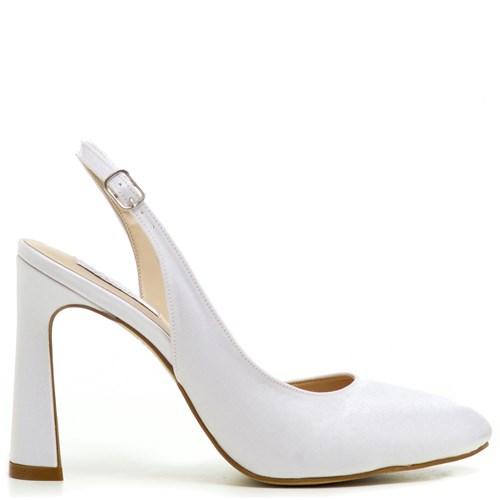 Sapato Noiva Chanel Branco Salto Alto - ST911134
