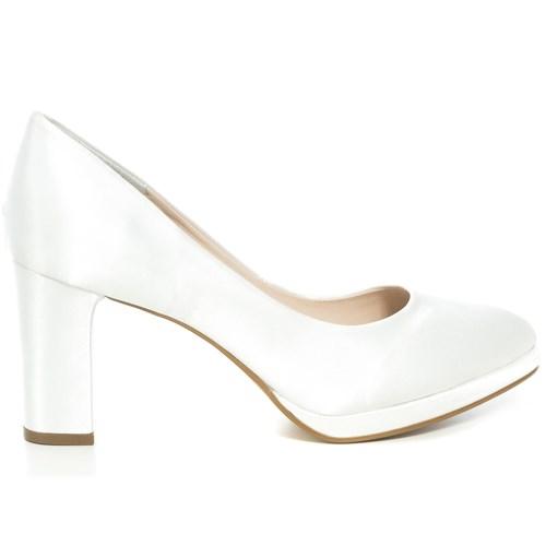 Sapato Noiva New White Plataforma Salto Médio - 68030