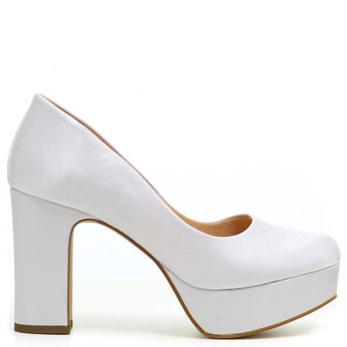 Sapato Noiva Plataforma Salto Bloco - ST561106