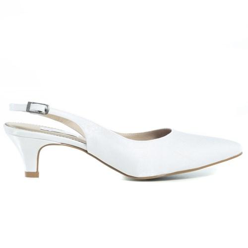 Scarpin Chanel Noiva Branco Salto Baixo - 233D.10193