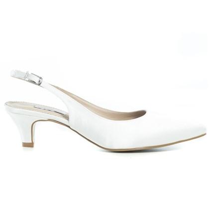 Scarpin Chanel Noiva New White Salto Baixo - 233D.10193
