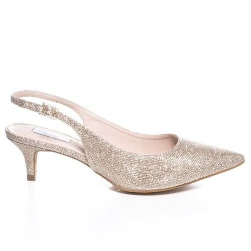Scarpin Festa Chanel Dourado Salto Baixo -  46082