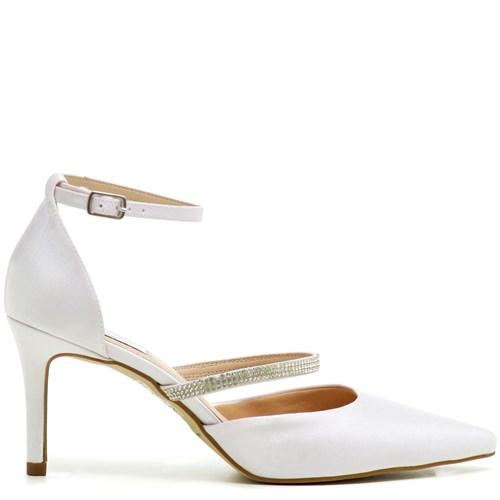 Scarpin Noiva Branco Tira Strass - ST571030