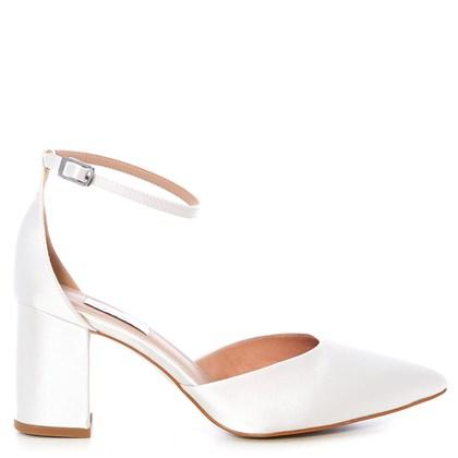 Scarpin Noiva New White Salto Confortável - 303D.10715