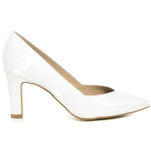 Scarpin Noiva Velvet Branco Salto Confortável - 235D.60011