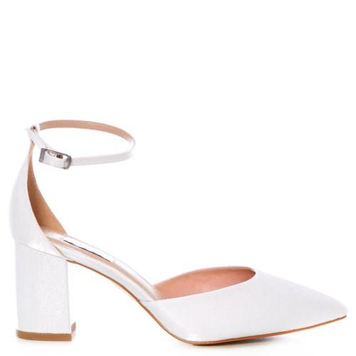 Scarpin Noiva Velvet Branco Salto Confortável - 303D.10715